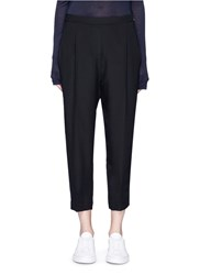Neil Barrett Dropped Crotch Cropped Crepe Pants Black