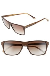 Men's Jack Spade 'Hughes' 59Mm Sunglasses Matte Brown Brown Gradient