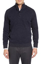 Toscano Men's Plaited Mock Neck Sweater
