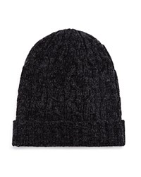 Bloomingdale's The Men's Store At Cable Knit Slouch Hat Black Grey