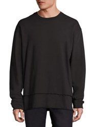 Blk Dnm Solid Long Sleeve Sweatshirt Black
