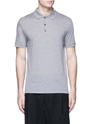 Lanvin Slim Fit Reverse Seam Polo Shirt Grey