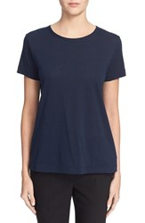 Helmut Lang Women's Open Back Cotton And Cashmere Crewneck Tee