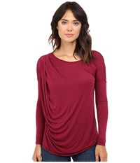 Lamade Remi Long Sleeve Top Oxblood Women's Long Sleeve Pullover Red