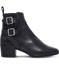 Kurt Geiger Need Leather Ankle Boots Black