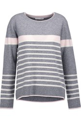 Duffy Striped Cashmere Sweater Anthracite