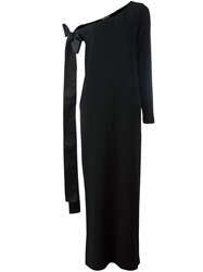 Rochas One Shoulder Gown Black