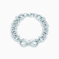 Tiffany And Co. Infinity Bracelet In Sterling Silver Medium. No Gemstone