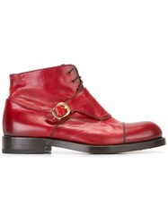 Raparo Buckled Detailing Boots Red