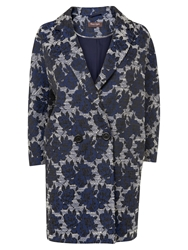 Phase Eight Mia Rose Jacquard Coat Navy