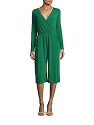 Bcbgeneration Pleated Cropped Jumpsuit Emerald