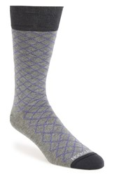Men's Hook Albert Diamond Pattern Socks Purple Engage Purple