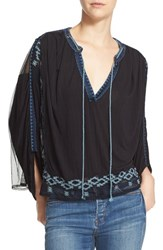 Free People Women's 'Eden' Embroidered Peasant Top