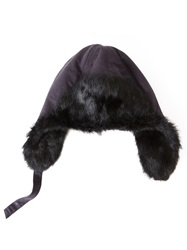 Yves Salomon Paneled Hat With An Adjustable Fit Black