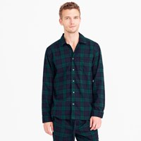 J.Crew Twill Pajama Set In Black Watch