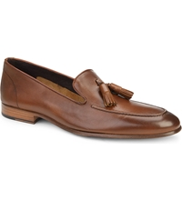 Kurt Geiger Alessandro Leather Loafers Tan