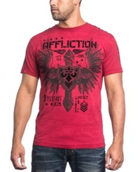 Affliction Men's Graphic Print T Shirt Dirty Red