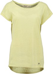 Garcia T Shirt With Embellished Neckline Yellow