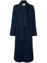 8Pm Long Shawl Lapel Cardi Coat Blue