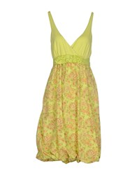 Cooperativa Pescatori Posillipo Dresses Knee Length Dresses Women Light Green