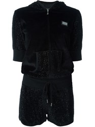 Philipp Plein 'Skuller' Playsuit Black