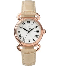 Links Of London Driver Rose Gold Plated Watch Tan