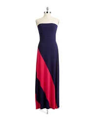 Spense Colorblock Maxi Dress New Navy