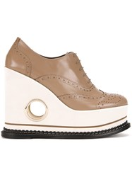 Paloma Barcelo 'Covita' Lace Up Shoes Brown