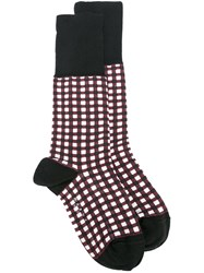 Marni Square Print Socks Black