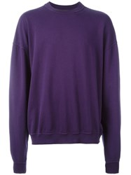 Haider Ackermann Crew Neck Sweater Pink And Purple