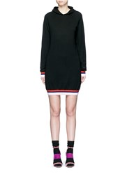 Emilio Pucci Wool Silk Cashmere Hooded Knit Dress Black