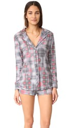 Love Grace Plaidsville Ella Pj Set Black Red