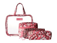 Vera Bradley Four Piece Cosmetic Organizer Blush Pink Cosmetic Case