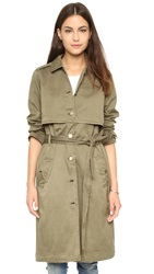 Current Elliott The Storm Flap Trench Army Green