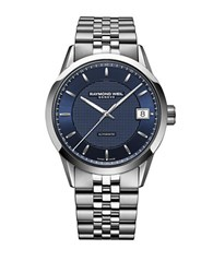 Raymond Weil The Freelancer Collection Stainless Steel Blue Watch Silver