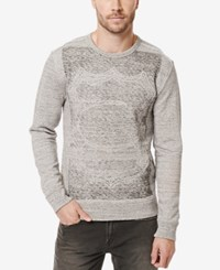 Buffalo David Bitton Men's Fabor Graphic Print Sweatshirt Heather Charlie