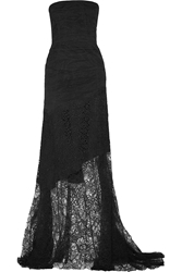 Nina Ricci Strapless Lace Gown