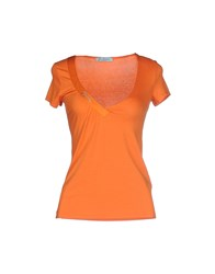 Guess By Marciano Topwear T Shirts Women Orange
