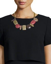 Mixed Station Collar Necklace Caper Multicolor Lafayette 148 New York