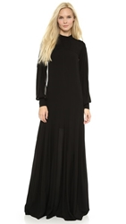 Yigal Azrouel Cape Sleeve Gown Jet