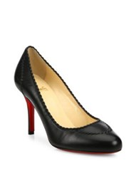 Christian Louboutin Marpelissimo Twisted Leather Pumps Black