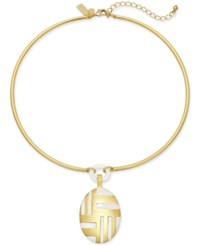 Kate Spade New York Gold Tone Mod Style Collar Necklace
