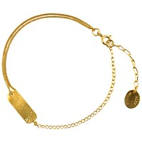 Alex Monroe 22Ct Gold Plated Sterling Silver Time Flies Tag Bracelet Gold