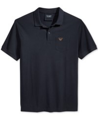 Armani Jeans Men's Pocket Polo Dark Navy