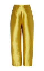 Isa Arfen Silk Vicious Classic Trousers Gold