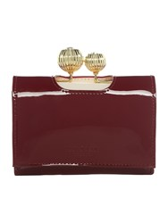 Ted Baker Julissa Red Small Patent Flapover Purse Red