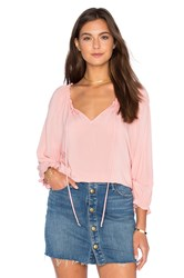 Velvet By Graham And Spencer Kimberly Rayon Challis Top Pink