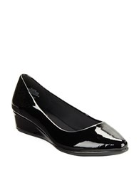 Easy Spirit Savery Patent Leather Wedge Pumps Black