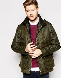 Jack Wills Tayport Waxed Jacket Made In Uk Green