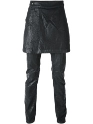 Rick Owens Drkshdw Kilted Coated Slim Jeans Black